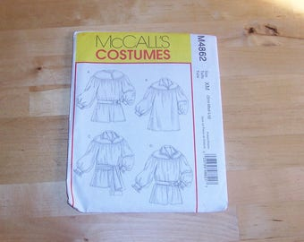 McCall's Sewing Pattern 4862 - Costumes - Pirate Shirt Pattern - Puffy Blouse Pattern - Historical Clothing Pattern - Outlander Costume