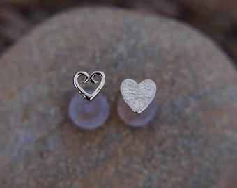 Tragus Piercing Stud - Heart Tragus Stud - Helix Stud Silver - 16 Gauge Helix - Silver Tragus - Heart Stud Ear - Bioflex Earring - 16 Gauge
