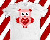 Valentine svg file, Owl svg, Cute svg, Kids svg, SVG DXF, EPS