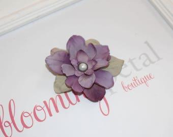 Lavender Vintage Flower Clip