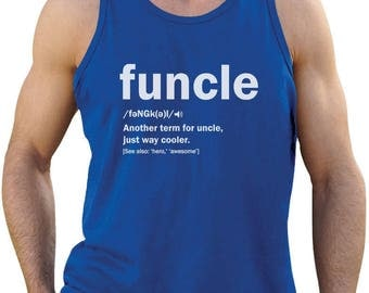 Funny Uncle Funcle Definition Gift For Uncles Singlet