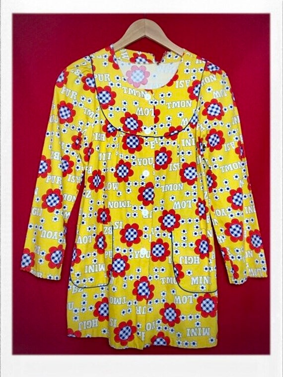 Vintage Women's Flower Child Print Jacket