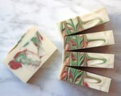 Candy Cane HOLIDAY Hand & Body Soap, Vegan Cold Process Soap Bar