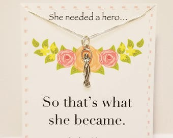 She Needed A Hero Sterling Silver Goddess Necklace