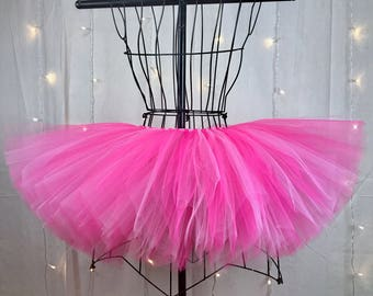 Kenley Tutu - Fuchsia and Pink Tutu - Available in Infant, Toddlers, Girls, Teenager, Adult and Plus Sizes