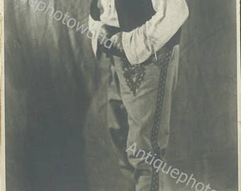 Russian actor Nelep antique theater photo
