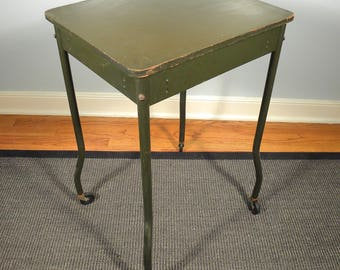 Vintage Post War Industrial Rolling Typewriter Table
