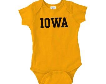 Iowa Hawkeyes Basic Block Creeper - Gold