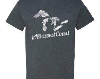Midwest Coast Michigan Basic Cotton T Shirt