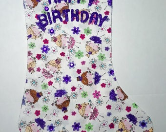 Fairy Princess Birthday Stocking