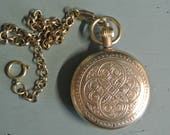 Mechanical Pocket Watch with Fob, Brass Winding Watch, Eclectic Steampunk, Great Unisex Gift, Great Quality, Nice Weight,Classic Time piece!
