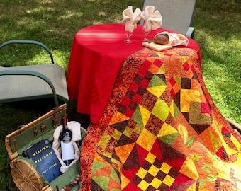 handcrafted quilt, sampler quilt, quilt throw, quilt wallhanging, handmade quilt, fall quilt, lap quilt,