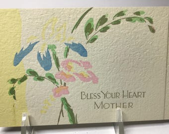 MOTHER'S DAY…1930's Art Deco Hand Painted, a Buzza Greeting Card, Unused