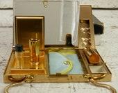 À cigarettes en métal rouge à lèvres Compact parfum peigne aumônière Minaudière sac à main pochette trousse à maquillage