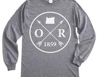 Homeland Tees Oregon Arrow Long Sleeve Shirt