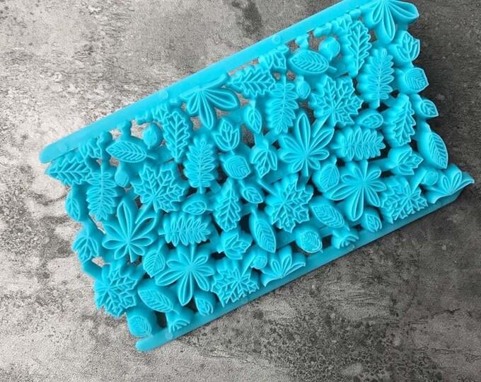 Leaf Floral Fondant Embosser Cake Cookie Cutter Imprint Set - H009