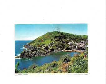 1982 Vintage Color Photo Postcard of Polperro, Cornwall, England, Posted, 2 Pence & 22 P Stamp, Written Message, Vintage Postcard Ephemera