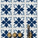 Tile/Wall/Stair Vinyl Decal :Jaipur Blue Pottery Hand Painted Style Tile Stickers