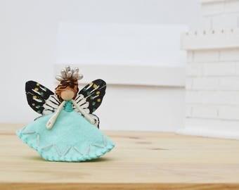 Waldorf Fairy Doll - waldorf fairies, felt fairy doll, felt fairies, miniature fairy doll, miniature fairies, OOAK fairy doll, mini fairy