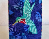 RESERVED FOR LAURALYN Hummingbird Fabric Postcard