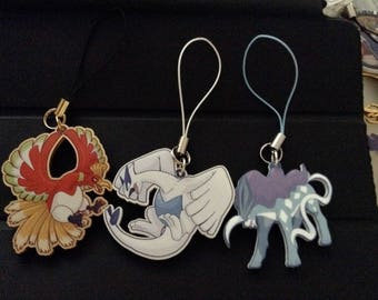Lugia, Ho-oh & Suicune Acrylic Charms