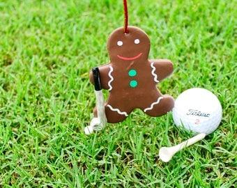 Golf Christmas ornament Golfer Gingerbread man Christmas decoration Christmas gift for golfers Golf Christmas decor Golfer gift ideas