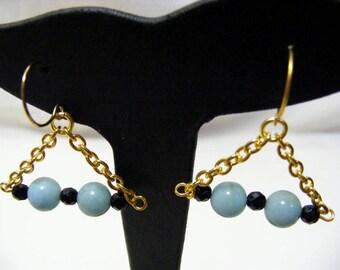 Amazonite and Agate Earrings