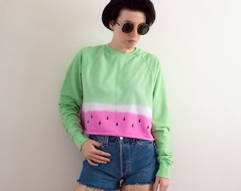 Tie Dye Sweatshirt Watermelon Gift Festival Clothing Pastel Grunge Sweater Hipster Clothing S/M/L/XL