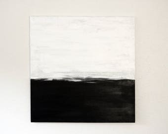 Abstract Painting on Canvas, Black and White Abstract Original, Abstract Painting Canvas Original, Ready To Hang Abstract Painting, Canvas