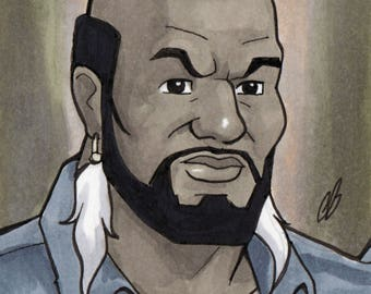 Mr. T A-Team Copic MarkerSketch Card