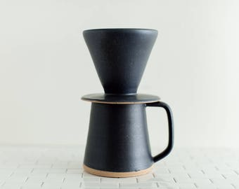 Slade Pour Over Set - Ships in 2-4 Weeks - Handmade pottery mug for brewing coffee