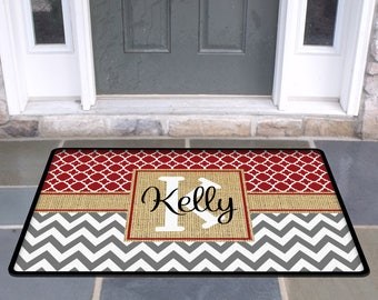 Personalized Door Mat Custom Doormat Monogrammed Custom Rug Monogram Welcome Front Door Mat Housewarming Gift Wedding Gift Ideas Hostess