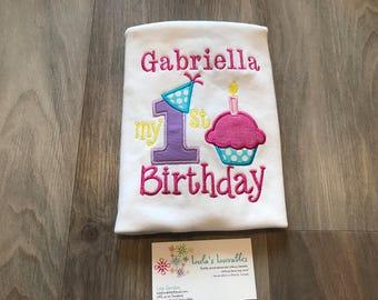 Cupcake first  Birthday shirt