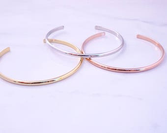 Beautiful Rose Gold Bangle Bracelet, Gold Bangle Bracelet, Silver Bangle Bracelet, Layering Bracelets