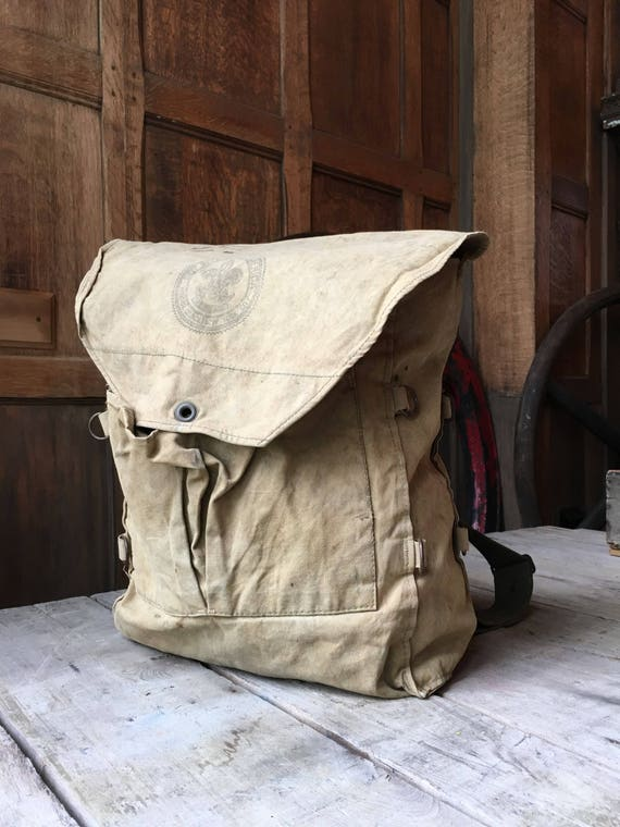 Vintage Boy Scout Backpack, Boy Scouts of America Rucksack, Antique Boy Scouts, BSA Backpack, No 573 Haversack, Vintage Camping