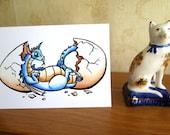 Hatchling Dragon Card - Birthday - Easter - Fantasy - A6 - Blank