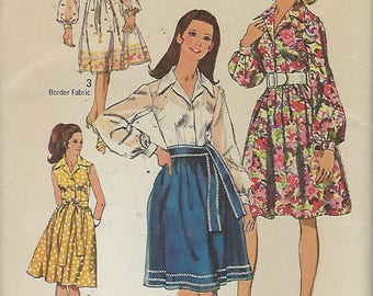 """Simplicity 9152  Misses' Dress And Sash    Size 12   Bust 34"""""""