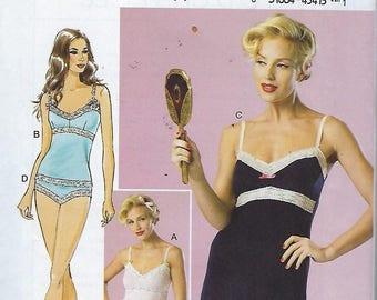 Butterick B6031  Misses' Camisole, Slip And Panties  Size (14-22)  UNCUT