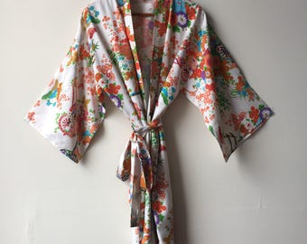 Peachy 1960's Floral Kimono Made in Japan