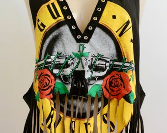 Guns n roses cut out tee
