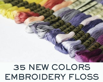DMC Floss 35 new colors -  Made in France - You pick the colors - 35 colors available