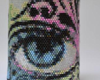 Peyote Bracelet Cuff, Seed Bead Bracelet, Beaded Cuff Bracelet, Eye Cuff Bracelet, Bracelet, Cuff, Handmade