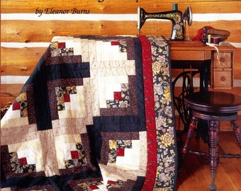 Make a Quilt in a Day Log Cabin Pattern Book by Eleanor Burns