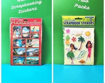 Two (2) Packs of HAWAII Themed Scrapbooking Stickers