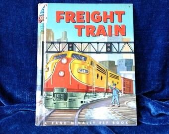 Freight Train Children's Rand McNally Elf Book by E.C.Reichert 1962