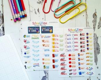 School Time Planner Sticker Kit by Lavish Paper Co. for Erin Condren, Happy Planner, inkWell Press, Mormon Mom Planner & More!