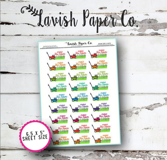 5 Lavish Projects By Studio Munge: Mow The Lawn Doodle Planner Stickers By Lavish Paper Co