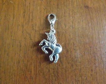 Charm silver unicorn snap 18 x 20 mm