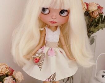 Blythe clothes, blythe set, blythe dress, doll dress, blythe outfit, doll knitted set, blythe couture, bjd clothes, blythe fashion