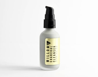 WILLOW CHARCOAL CLEANSER // Non-Drying Foaming Face Wash // All-Natural // No sls or Parabens